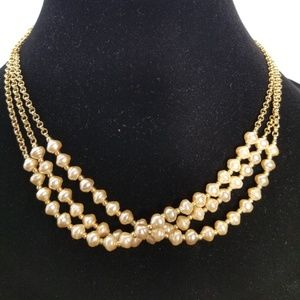 LAURA ASHLEY GOLD-PEARL NECKLACE